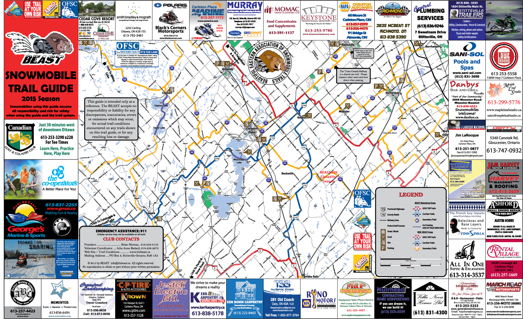 Trail Guide (Maps) – The BEAST