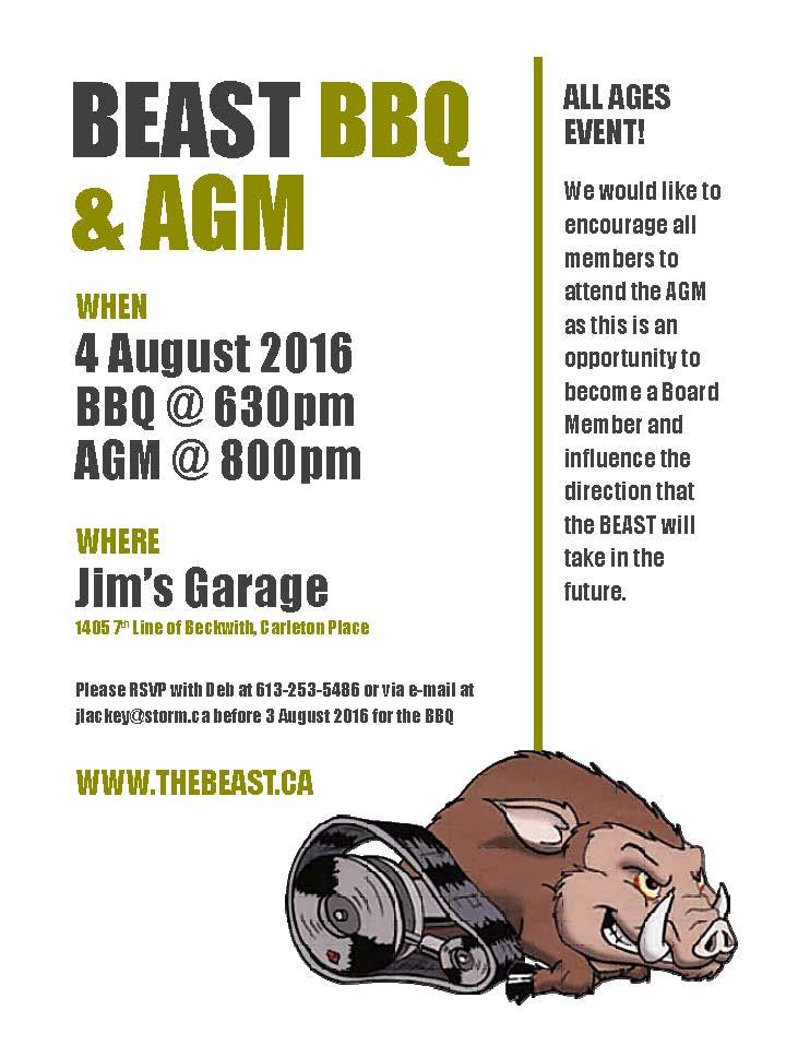 BEAST BBQ AGM 2016